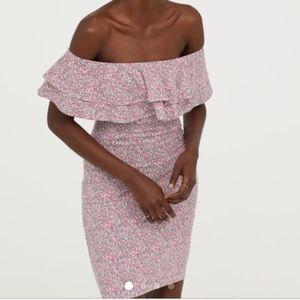 H&M Dresses - H&M Off The Shoulder Dress